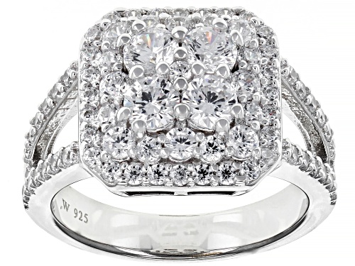 Photo of Charles Winston for Bella Luce ® 3.19ctw Rhodium Over Sterling Silver Ring (1.85ctw DEW) - Size 8