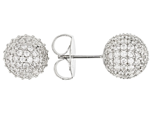 Photo of Charles Winston for Bella Luce ® 5.64ctw Rhodium Over Sterling Silver Earrings (3.60ctw DEW)