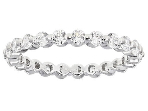 Photo of Charles Winston For Bella Luce ® 1.79ctw Rhodium Over Silver Eternity Band Ring (1.38ctw DEW) - Size 11