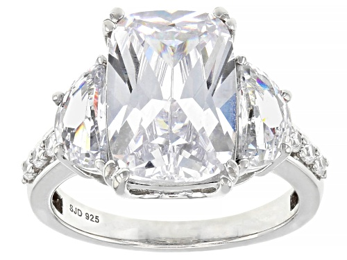 Photo of Charles Winston for Bella Luce ® 10.76ctw Rhodium Over Sterling Silver Ring (9.17ctw DEW) - Size 7