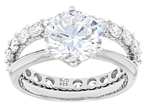 Photo of Charles Winston for Bella Luce ® 6.82ctw Rhodium Over Sterling Silver Ring With Band (4.32ctw DEW) - Size 10