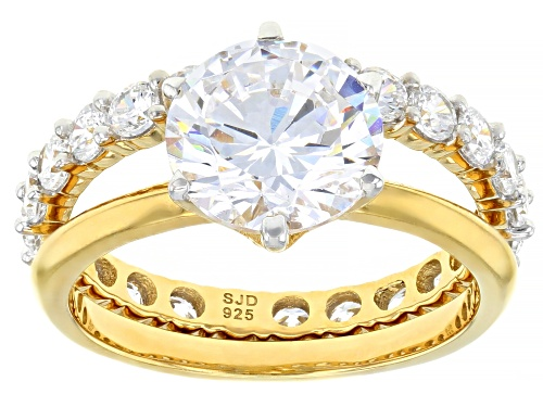 Photo of Charles Winston for Bella Luce ® 6.82ctw Eterno ™ Yellow Solitare Ring With Band (4.32ctw DEW) - Size 11
