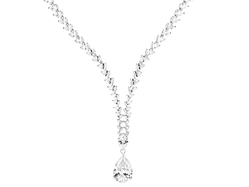 Photo of Charles Winston for Bella Luce ® 90.22ctw Rhodium Over Sterling Silver Necklace (57.10ctw DEW) - Size 18