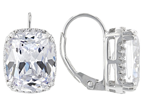 Photo of Charles Winston For Bella Luce® 18.32ctw White Diamond Simulant Rhodium Over Sterling Earrings