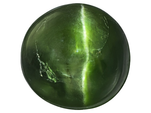 Photo of Russian Cats Eye Chrome Diopside Min 2.50ct Mm Varies Round Cabochon