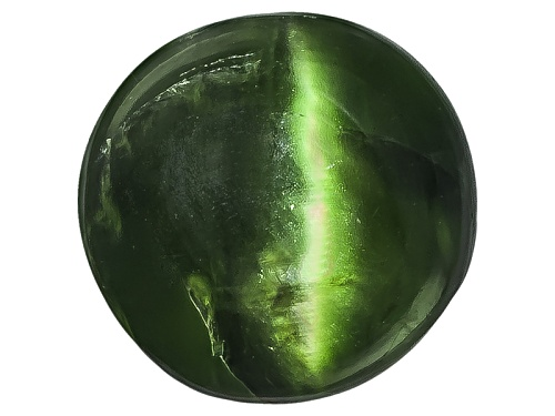Photo of Russian Cats Eye Chrome Diopside Min 1.25ct Mm Varies Round Cabochon