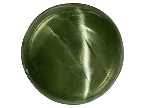 Photo of Russian Cats Eye Chrome Diopside Min 6.00ct Mm Varies Round Cabochon