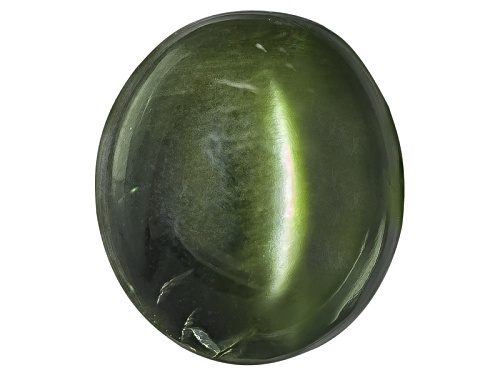Photo of Russian Cats Eye Chrome Diopside Min 2.50ct Mm Varies Oval Cabochon