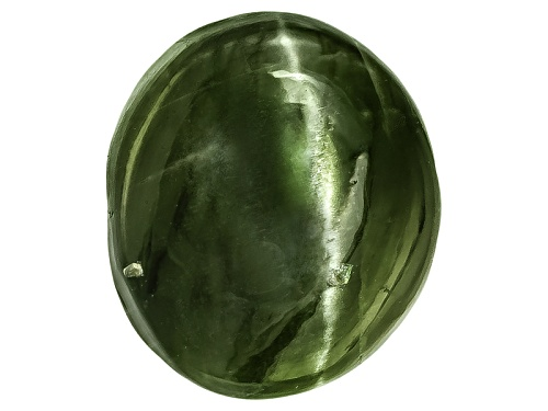 Photo of Russian Cats Eye Chrome Diopside Minimum 6.00ct Mm Varies Oval Cabochon