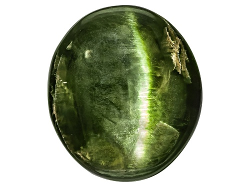 Photo of Russian Cats Eye Chrome Diopside Min 7.00ct Mm Varies Oval Cabochon