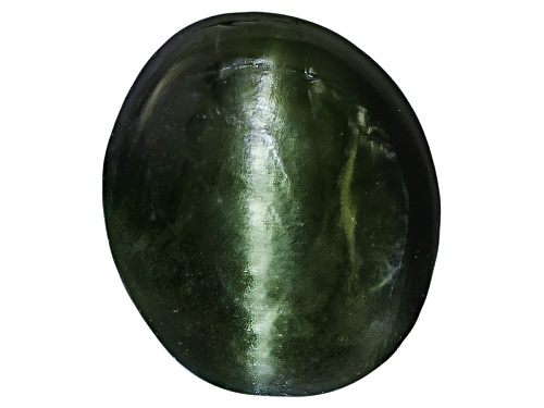 Photo of Russian Cats Eye Chrome Diopside Min .50ct Mm Varies Oval Cabochon