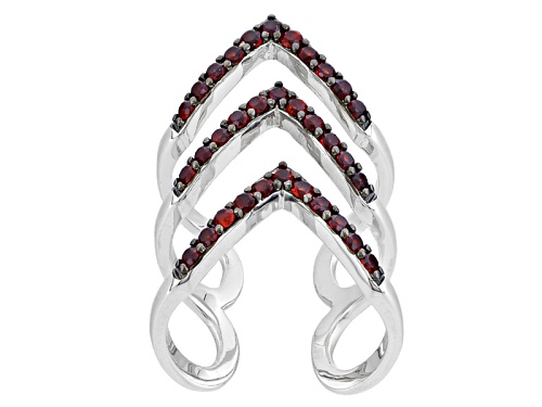 Photo of 1.32ctw Round Vermelho Garnet™ Sterling Silver Chevron Ring - Size 6