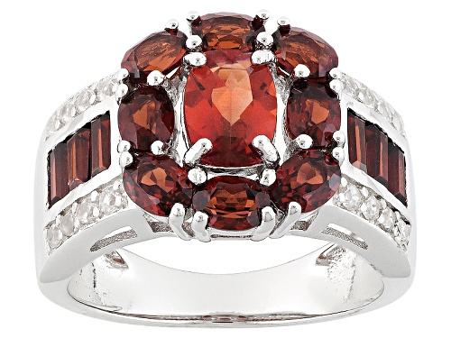 Photo of .60ct Red Labradorite, 2.32ctw Vermelho Garnet™, And .27ctw White Zircon Silver Ring - Size 7