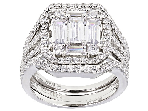 Photo of Bella Luce ® 2.68ctw White Diamond Simulant Rhodium Over Sterling Silver Ring With Bands - Size 6