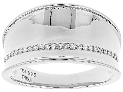 Photo of Bella Luce ® 0.25ctw Rhodium Over Sterling Silver Band Ring - Size 6
