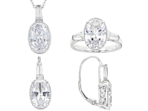 Photo of Bella Luce ® 20.36ctw Rhodium Over Sterling Silver Jewelry Set