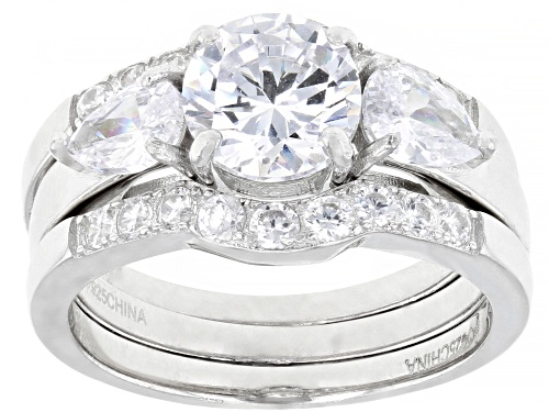 Photo of Bella Luce ® 4.13ctw Rhodium Over Sterling Silver Ring With 2 Bands (2.54ctw DEW) - Size 6