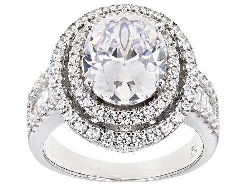 Bella Luce ® 7.29ctw White Diamond Simulant Rhodium Over Sterling Silver Ring - Size 7