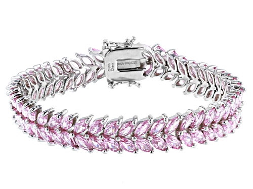 Photo of Bella Luce ® 29.67ctw Pink Diamond Simulant Rhodium Over Sterling Silver Tennis Bracelet - Size 7.25