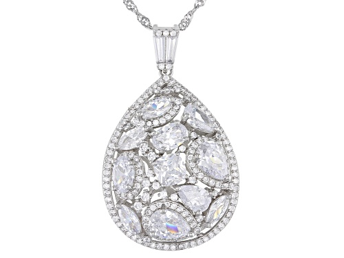 Photo of Bella Luce ® 7.91ctw Rhodium Over Sterling Silver Pendant With Chain (5.56ctw DEW)