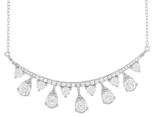 Bella Luce ® 3.80ctw Rhodium Over Sterling Silver Necklace - Size 18