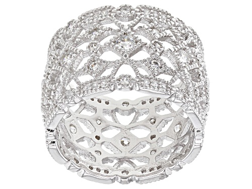 Photo of Bella Luce ® 2.10ctw Rhodium Over Sterling Silver Band Ring (1.28ctw DEW) - Size 5