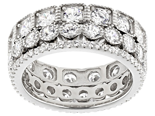 Photo of Bella Luce ® 5.10ctw Rhodium Over Sterling Silver Band Rings Set of 3 - Size 7