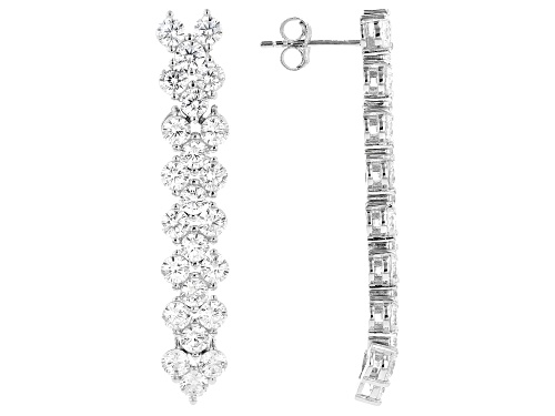 Photo of Bella Luce ® 8.40ctw Rhodium Over Sterling Silver Dangle Earrings