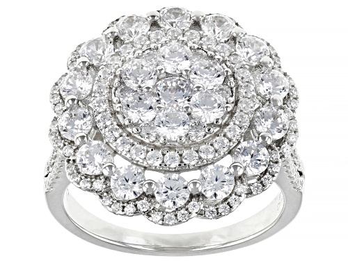 Photo of Bella Luce ® 4.65ctw Rhodium Over Sterling Silver Ring - Size 7