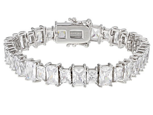 Photo of Bella Luce ® 40.00ctw Rhodium Over Sterling Silver Tennis Bracelet - Size 7.25