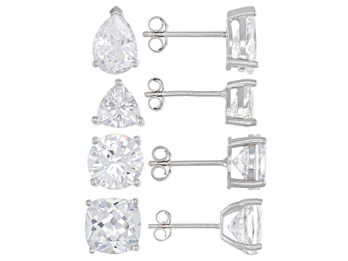 Photo of Bella Luce ® 13.10ctw Rhodium Over Sterling Silver Earrings- Set of 4