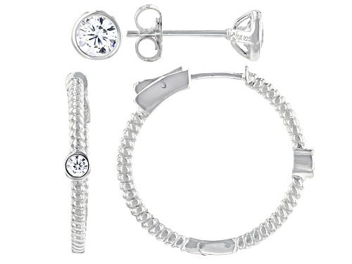 Photo of Bella Luce ® 1.94ctw Rhodium Over Sterling Silver Earrings Set