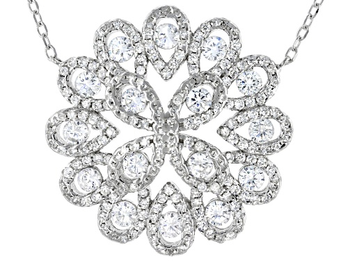 Photo of Bella Luce ® 2.60ctw Rhodium Over Sterling Silver Necklace - Size 18