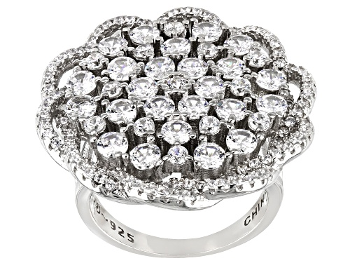 Photo of Bella Luce ® 6.10ctw Rhodium Over Sterling Silver Ring - Size 7