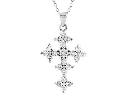 Photo of Bella Luce ® 1.85ctw Rhodium Over Sterling Silver Cross Pendant With Chain