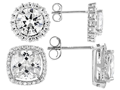 Photo of Bella Luce ® 16.42ctw Rhodium Over Sterling Silver Stud Earrings- Set of 2