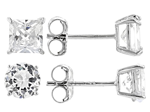Photo of Bella Luce ® 4.45ctw Rhodium Over Sterling Silver Stud Earrings- Set of 2