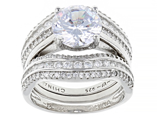 Photo of Bella Luce ® 5.65ctw Rhodium Over Sterling Silver Ring With 2 Bands - Size 8