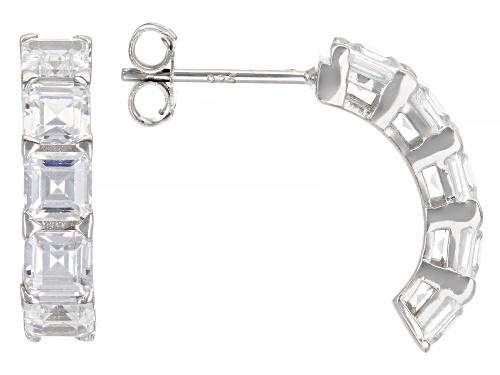 Photo of Bella Luce ® 3.69ctw Asscher Cut Rhodium Over Sterling Silver Earrings