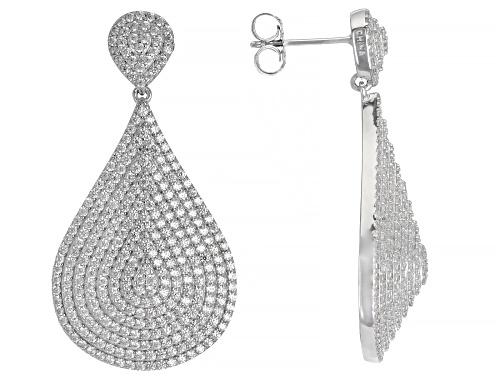 Photo of Bella Luce ® 6.14ctw White Diamond Simulant Rhodium Over Sterling Silver Earrings
