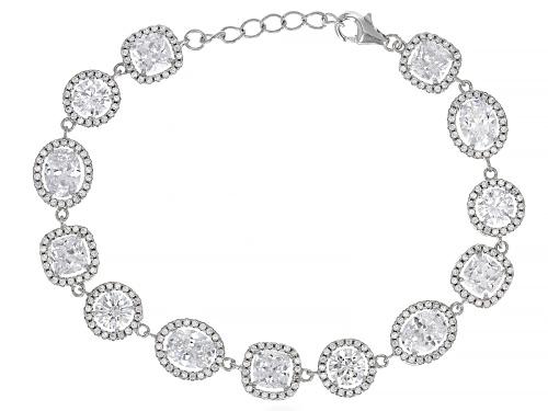 Photo of Bella Luce ® 27.14 CTW White Diamond Simulant Rhodium Over Sterling Silver Bracelet - Size 7