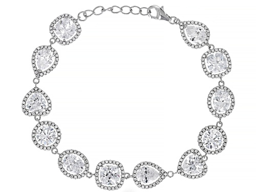 Photo of Bella Luce ® 29.96 CTW White Diamond Simulant Rhodium Over Sterling Silver Bracelet - Size 7