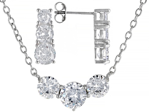 Photo of Bella Luce ® 10.00ctw Rhodium Over Sterling Silver Earrings And Necklace Set