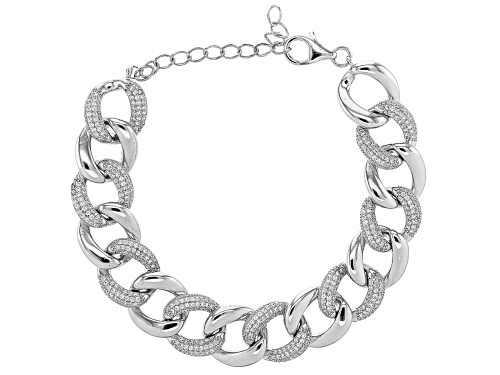 Photo of Bella Luce ® Rhodium Over Sterling Silver Curb Chain Bracelet - Size 7