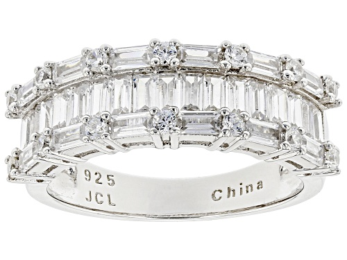 Bella Luce ® 2.73ctw Rhodium Over Sterling Silver Ring - Size 5