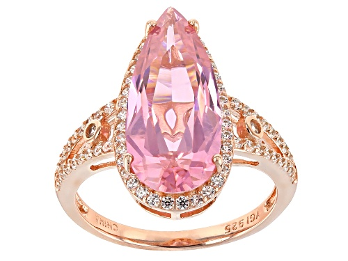 Photo of Bella Luce® 14.62ctw Pink and White Diamond Simulants Eterno™ Rose Ring - Size 5