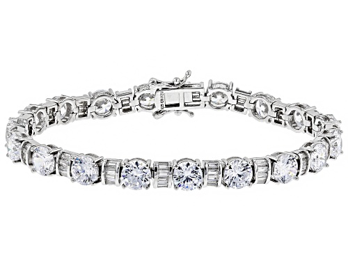 Photo of Bella Luce ® 26.80CTW White Diamond Simulant Rhodium Over Sterling Silver Bracelet - Size 7.25
