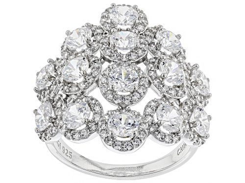 Photo of Bella Luce ® 6.86CTW White Diamond Simulant Rhodium Over Sterling Silver Ring - Size 5