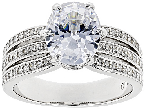 Photo of Bella Luce ® 5.10CTW White Diamond Simulant Rhodium Over Sterling Silver Ring - Size 8