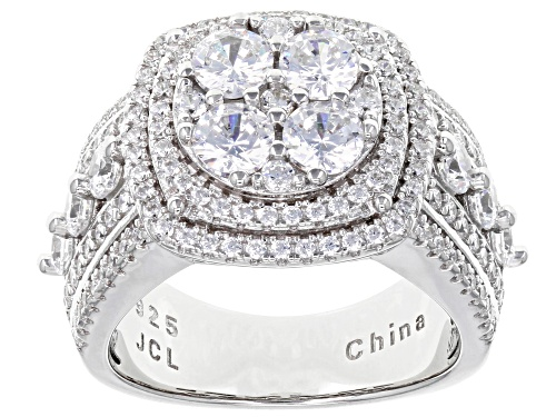 Photo of Bella Luce® 4.40ctw Rhodium Over Sterling Silver Ring - Size 12